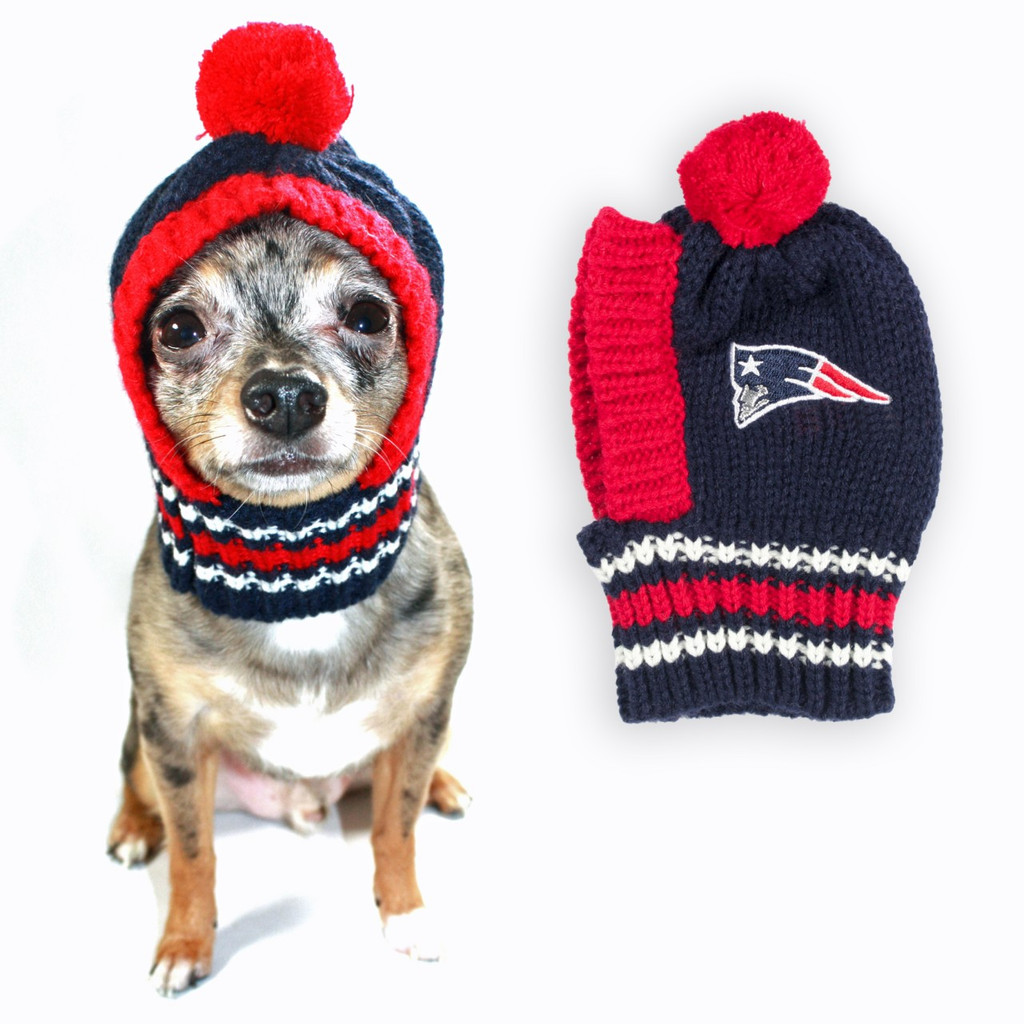 NFL Knit Pet Hat - Patriots