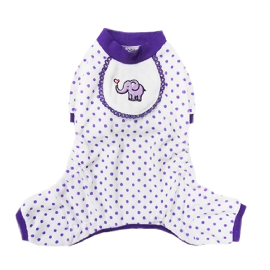 Elephant Pajama in Purple