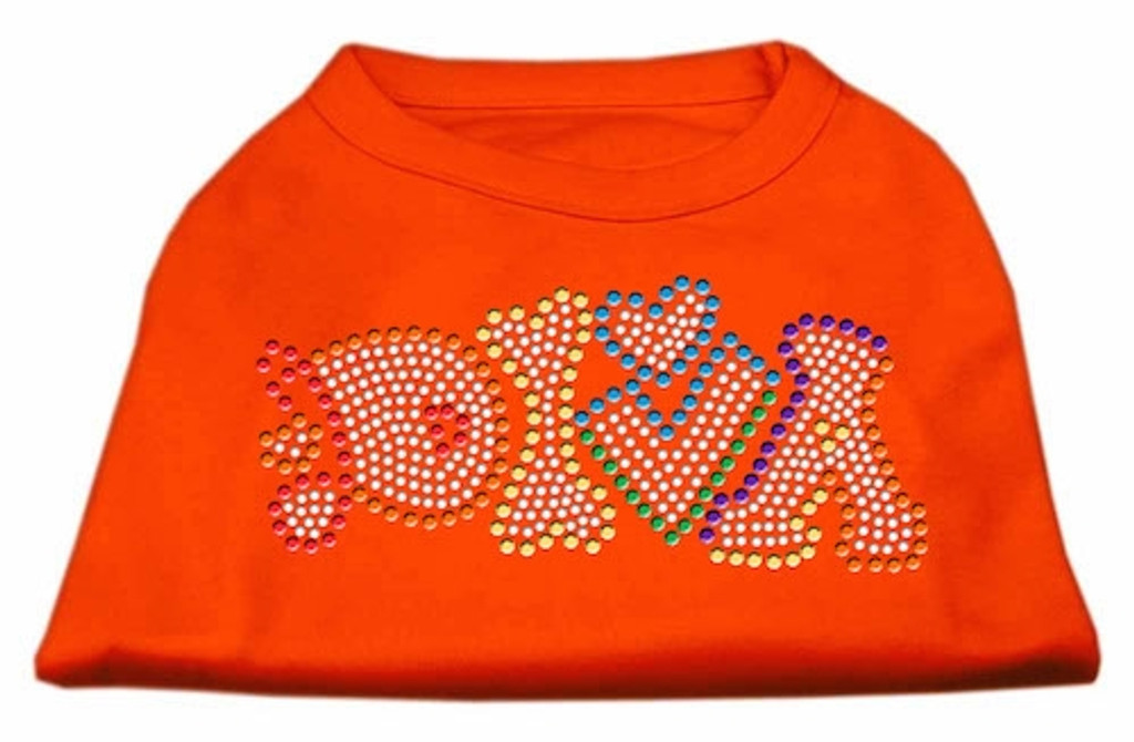 Technicolor Diva Rhinestone Pet Shirt