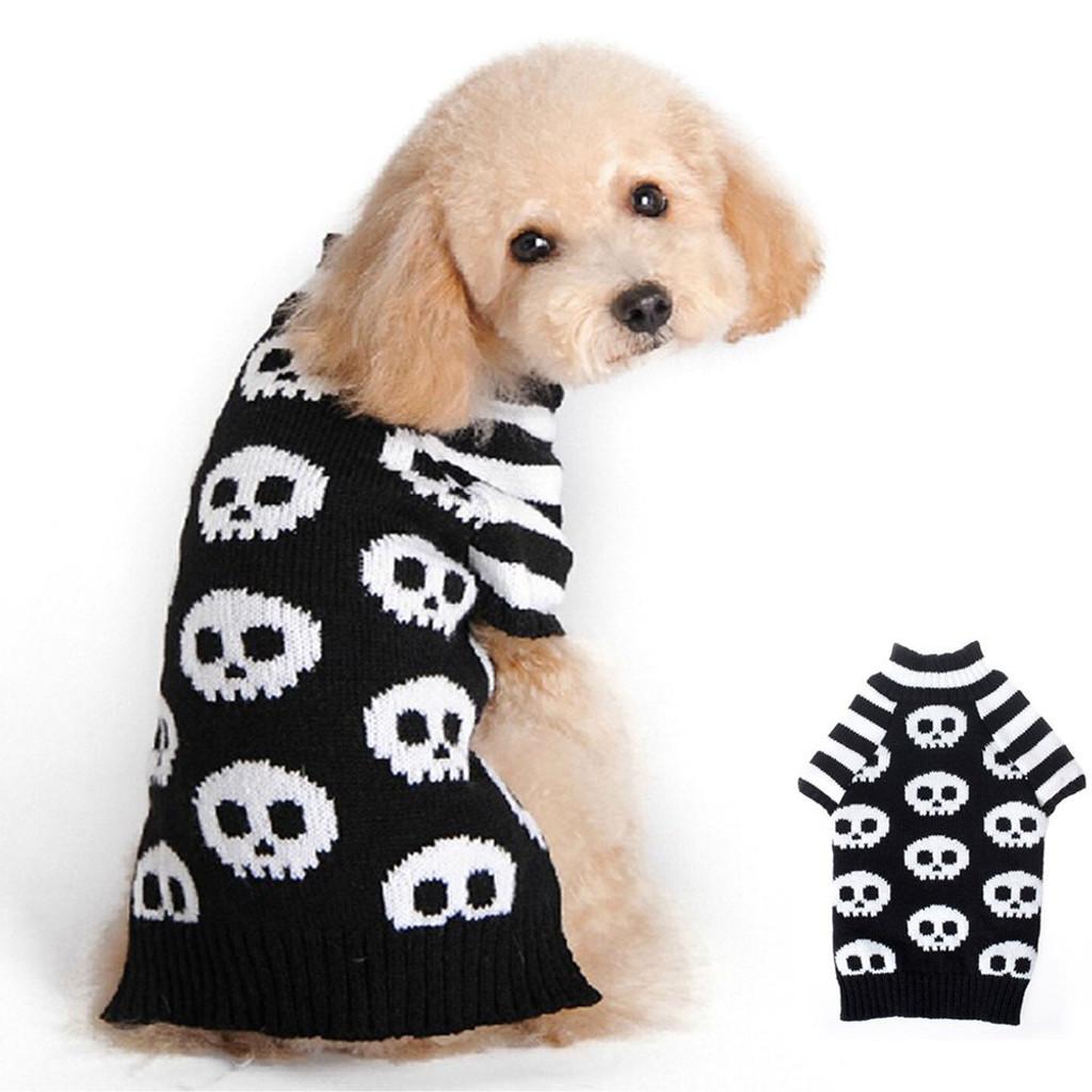 Striped Skull Dog Sweater