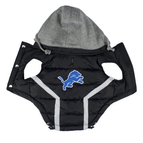 NFL Detroit Lions Dog Puffer Vest