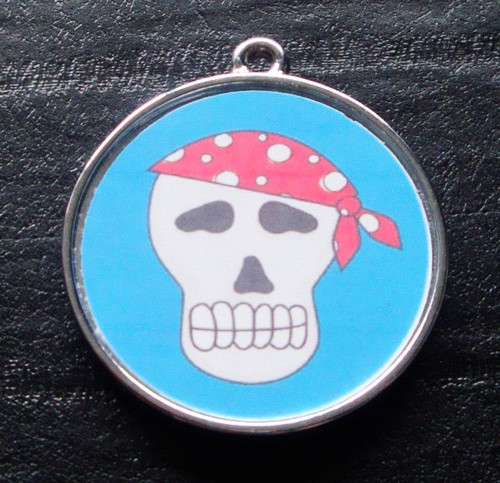 Boy Skulls no.2 Designer Pet ID Tag
