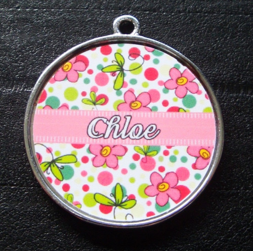Light Pink Bubblegum Garden Pet ID Tag w/ Pet's Name