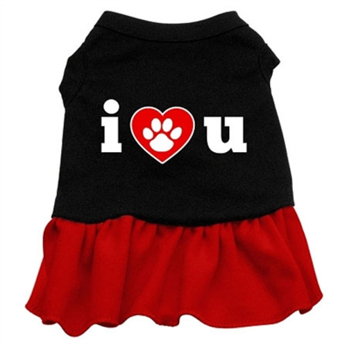 I Heart U Screen Printed-red