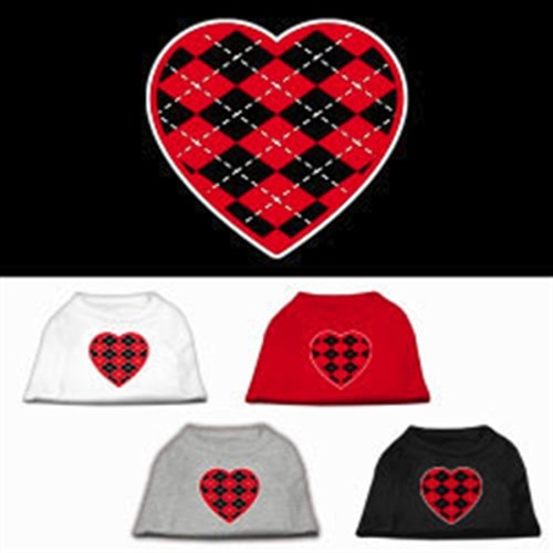 Red Argyle Heart Shirts