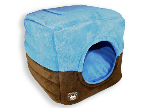 Deluxe Single Door Pop Tent Bed - Blue
