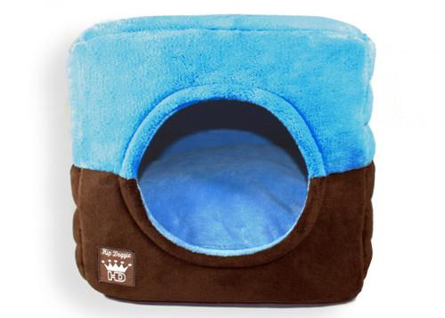Deluxe Single Door Pop Tent Bed - Blue