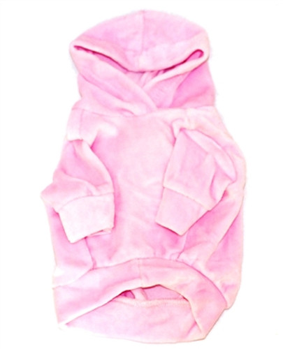 Pink Velour Hoodie Pullover