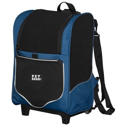 Pet Edge I-GO2 Sport Roller-Backpack - Misty Blue