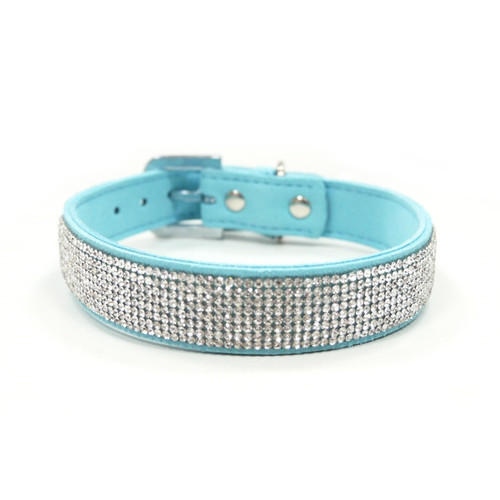 Blue VIP Bling Collar