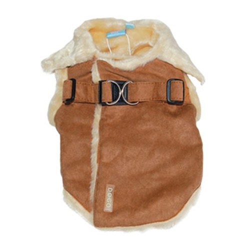 Brown Furry Harness Vest