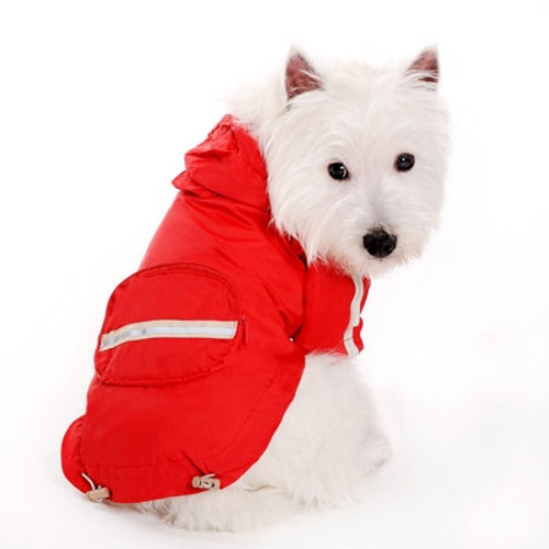 Red Pocket Raincoat V2