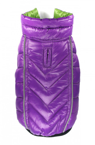 Featherlite Reversible-Reflective Puffer Vest - Green/Purple