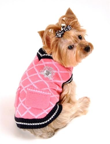 Royal Crest Sweater Vest - Pink