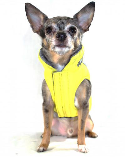Featherlite Reversible-Reflective Puffer Vest Yellow/Grey