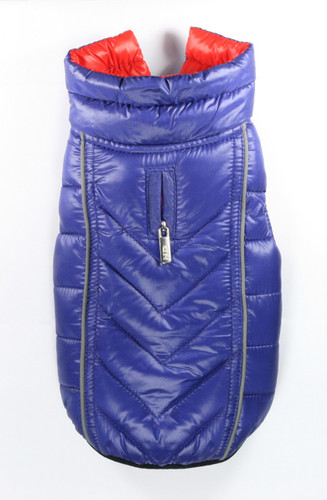 Featherlite Reversible-Reflective Puffer Vest Blue/Orange