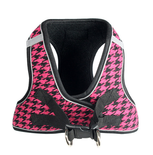 EZ Reflective Houndstooth Harness Vest - Pink/Black