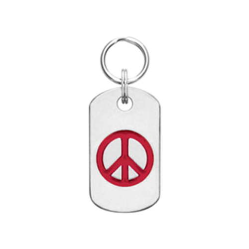 Doggie Tag with Peace Sign