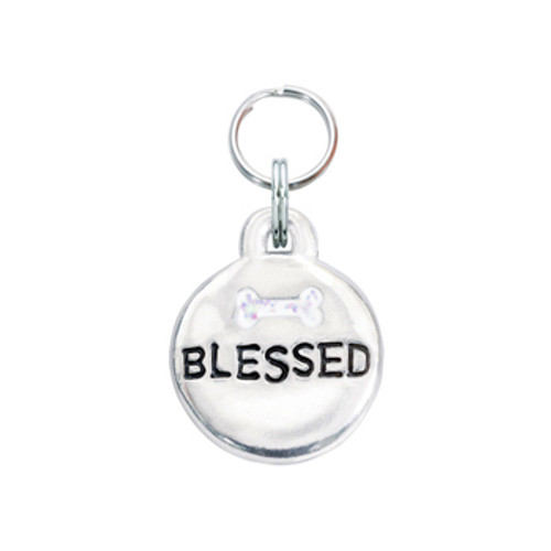 Blessed Pet ID Tag with Bone