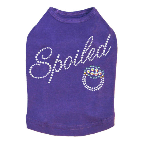 Spoiled - Swarovski Saphire Ring - Dog Tank