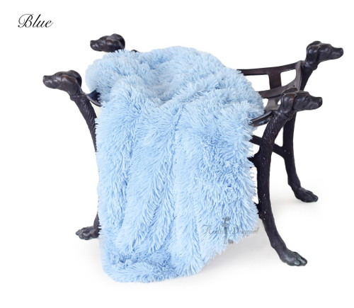 Luxury Shag Blankets - Blue