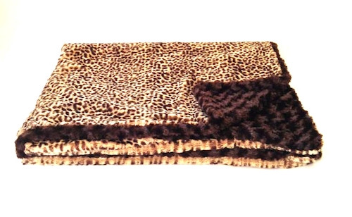 Reversible Cheetah Luxurious Fur Throw