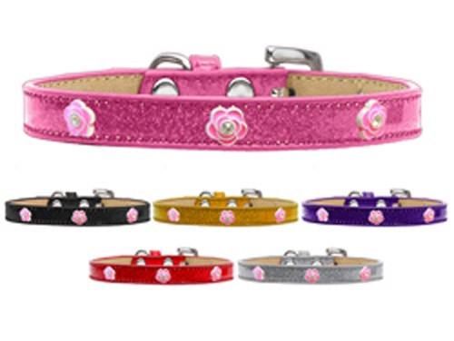 Bright Pink Rose Widget Dog Collar Ice Cream
