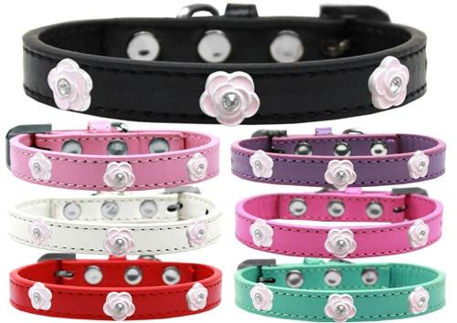 Light Pink Rose Widget Dog Collar
