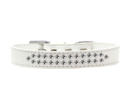 Two Row Clear Crystal Dog Collar