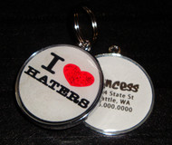 I Love Haters Pet ID Tag