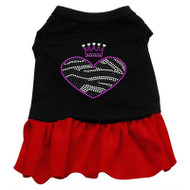 Zebra Heart Rhinestone-red