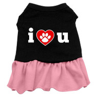 I Heart U Screen Printed-pink