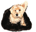 Black Mink Plush Cozy Sak