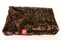 Dark Brown Leopard Minkie Binkie Blanket