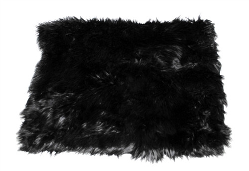 Black Shag All Plush Crate Liner