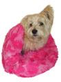 Hot Pink Giraffe Shag Plush Cozy Sak