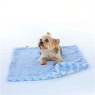 Blue Paisley Minkie Binkie Blanket