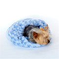 Blue Paisley Plush Cozy Sak