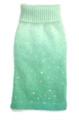 Luxury Sparkle Angora Blend Turtleneck, Seafoam Dip Dye