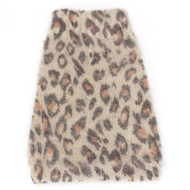 Animal Instincts Mock Neck Angora Blend, Brown Leopard