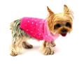 Luxury Sparkle Angora Blend Turtleneck, Pink Sunset Dip Dye