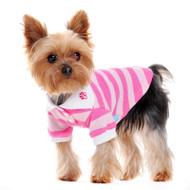 Dogo Dog Stripe Polo Shirt Pink - Free Shipping