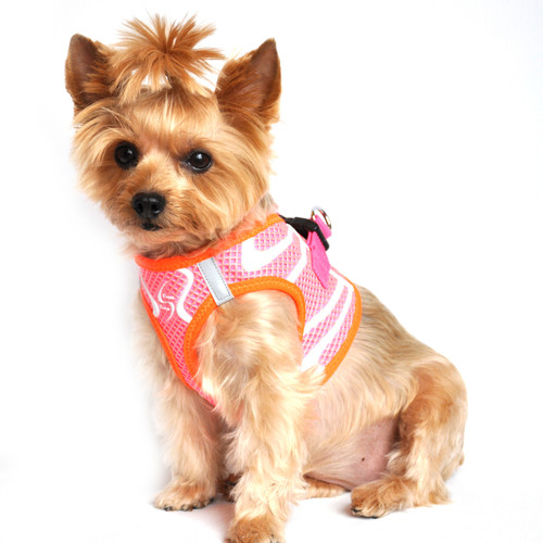 American River Neon Sport Dog Harnesses - Iridescent Pink