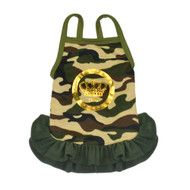 Luxe Camo Dog Dress - Dogs of Glamour