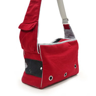 Boxy Messenger Bag - Red