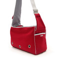 Boxy Messenger Bag - Red