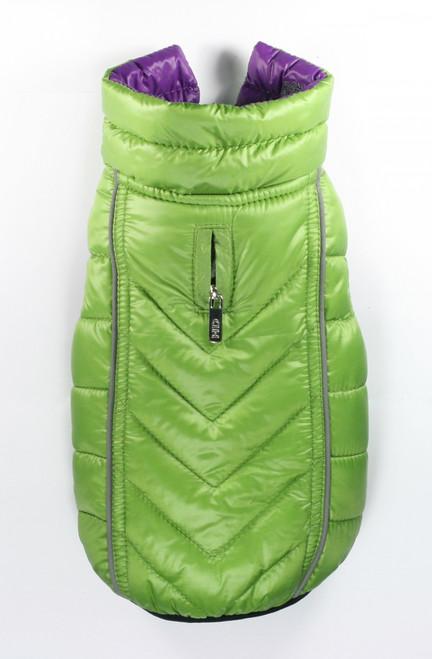 Featherlite Reversible-Reflective Puffer Vest - Green/Purple