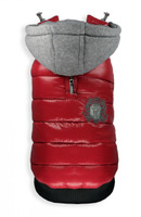 Sporty Puffer Vest - Red
