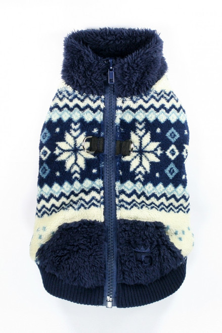 Soft Snowflake Fleece Vest - Blue