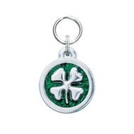 Glitter Circle Clover Tag